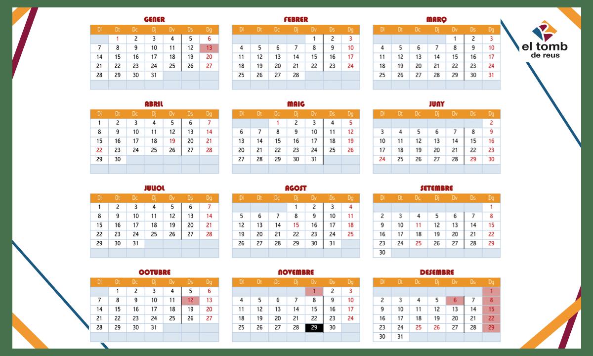 Calendari de Festius 2019