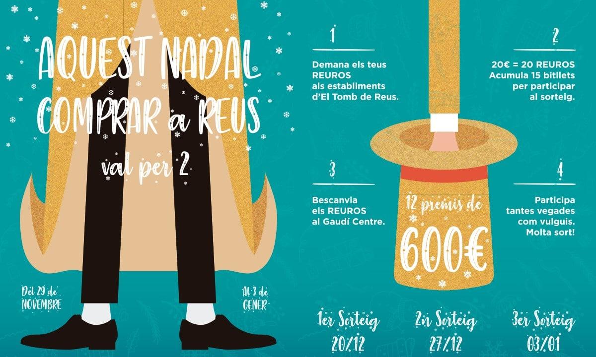 Aquest Nadal, Comprar a Reus val per 2 (bases de la promoció)